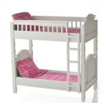 Bunk Bed with Hot Pink & Green Apple Linens