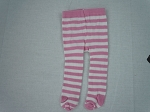 Pink and White Stripe Tights by BFF Doll Company