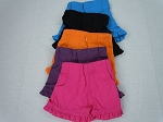 Shorts with two pockets, velcro fly, elastic back, and ruffle trim by BFF Doll Company (one)