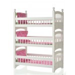 Triple Detachable Bunk Bed with Hot Pink & Apple Green Linens