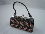 Black Umbrella Print Purse by BFF Doll Company