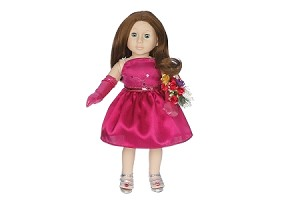 Cranberry Prom Dress by BFF Doll Company