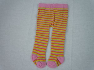 Pink Purple and Lime Stripe Tights by BFF Doll Company