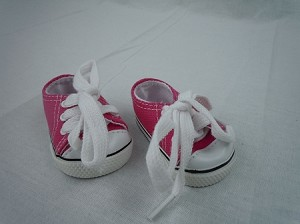 Dark Pink Sneakers by BFF Doll Company
